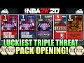 LUCKIEST NBA 2K20 TRIPLE THREAT PACK OPENING WITH JUICED REWARD PACKS AND MADE A LOT OF MT IN MYTEAM