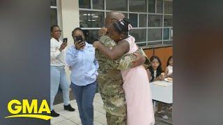 Deployed dad surprises his daughter at daddy-daughter dance l GMA Digital