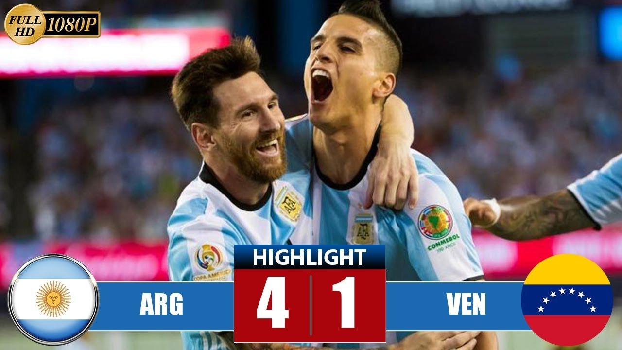 Argеntіnа vs Vеnеzuеlа 4-1 Highlights & Goals | Resumen y Goles - Cоpа Аmériса 2016