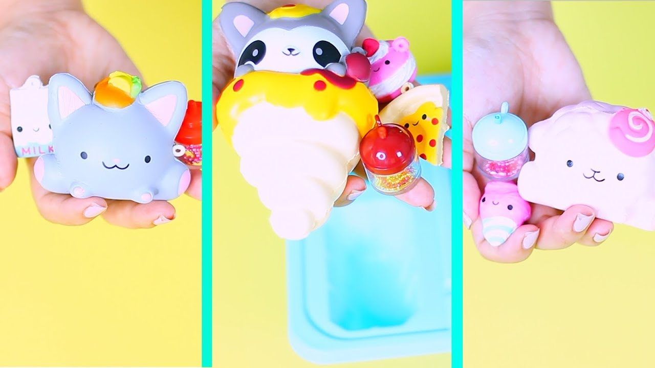 Squishy Mushy Toys R Us : Cutest Squishy Smooshy Mushy Toy Surprises Unboxing ! - Bakery squishy , food squishes and more ...