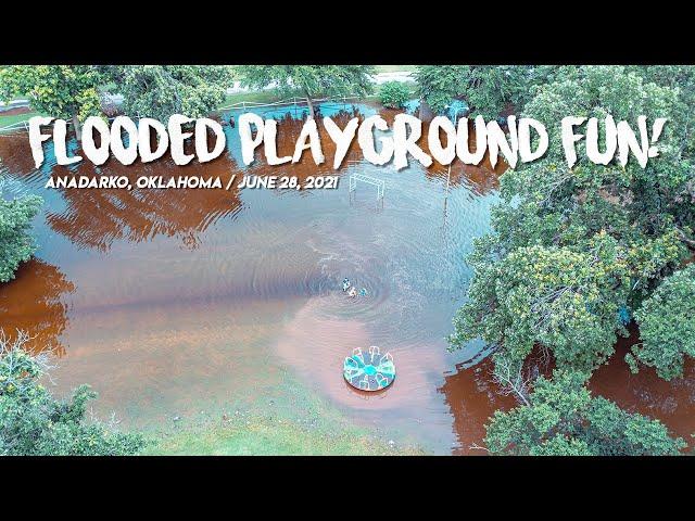 FLOODED Playground FUN! / DJI Mavic 2 Pro / Anadarko, OK / June 28, 2021