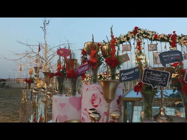 Open air Romantic Anniversary decoration ideas   Anniversary surprises  wedding anniversary ideas