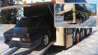 Загрузка легкового автомобиля в автобус | Технологии
