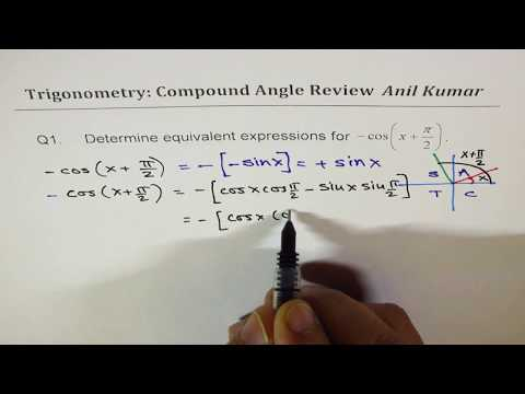 Compound Angle Double and Half Angle Test PreCalculus Review MCV4U