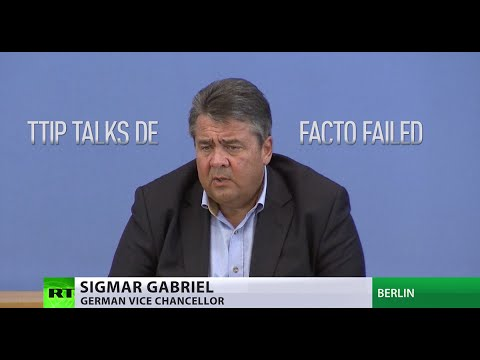TTIP talks between EU & US have de facto failed – German economy minister