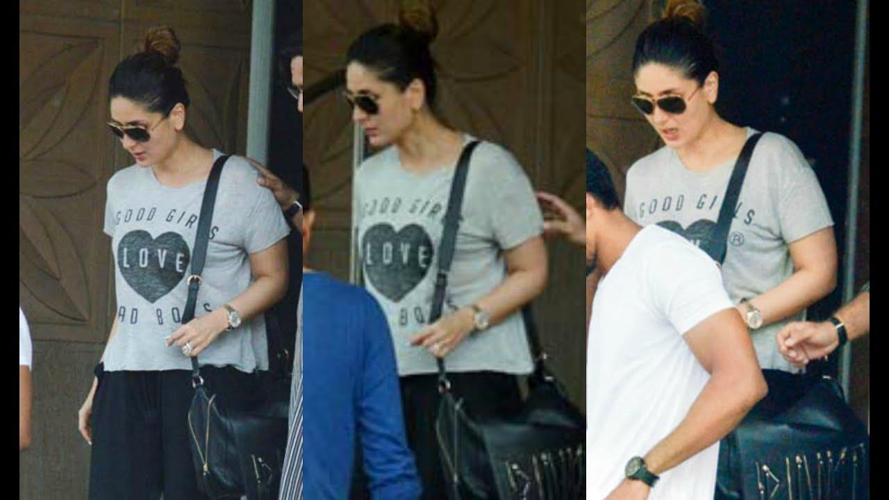 Pregnant Kareena Kapoor Visit Saif Ali Khan At Hospital - YouTube