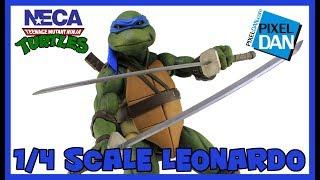 Leonardo NECA Toys Teenage Mutant Ninja Turtles Movie 1/4 Scale Figure Video Review