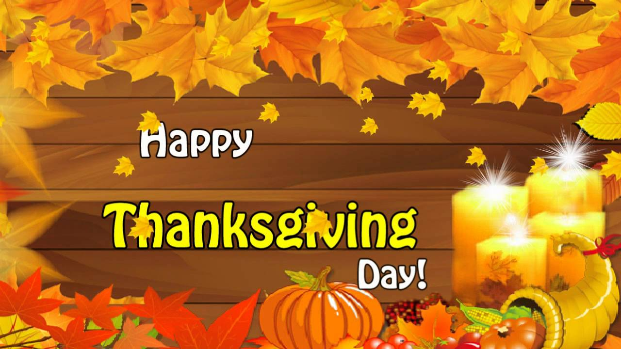 Happy Thanksgiving Day Wishes Greeting Ecard Youtube