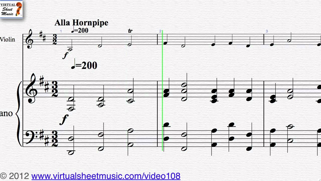 George Frideric Handel\'s, Hornpipe from Water Music, Violin and ...
