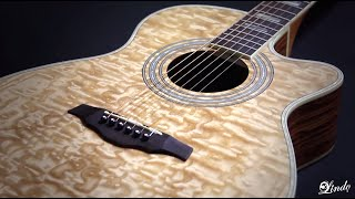 Lindo Guitars - Piebald Ash Electro-Acoustic Guitar with EQ - Demonstration