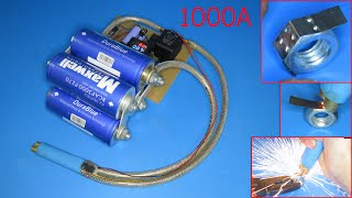 How to make a powerful spot welding using super capacitor 3000F Upgraded