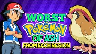 Ash worst Pokemon from each region | Hindi Pokevilla Z