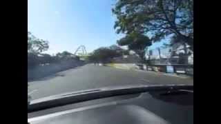 Riding with Mika Hakkinen around Moses Mabhida street track Topgear festival 2013