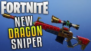 "Fortnite Save the World New Event Weapon Gameplay ""Fortnite Dragon Claw Sniper"""