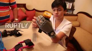 Bolivia  14yo without hand 3D prints his own prosthesis   for less than 0