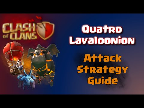 Clash of Clans | How To Quatro Lavaloonion - CoC Attack Strategy Guide for TH10 Anti 3 Star Base