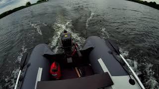 лодка пвх ривьера 3400 ск компакт и лодочный мотор HDX 3 6