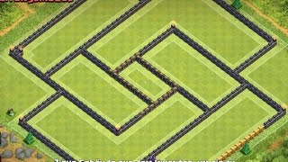 Clash of Clans - TH 10 Trophy base // 275 walls