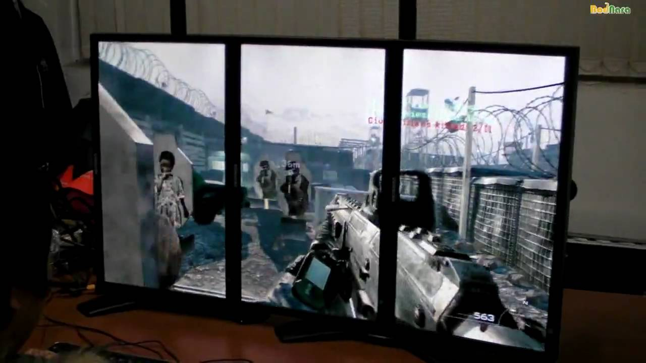 Modern Warfare 2 Hd Wallpaper Call Of Duty Modern Warfare2 With Triple Monitor In Ati