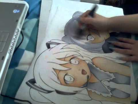 Hatsune Miku & Black Rock Shooter Speed Paint