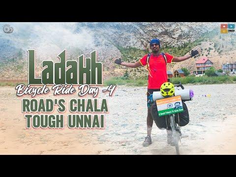 ladakh bicycle ride part- IV HAPPY BIRTHDAY SONU SIR || LAND SLIDE JARIGINDI || Ranjith on Wheels thumbnail