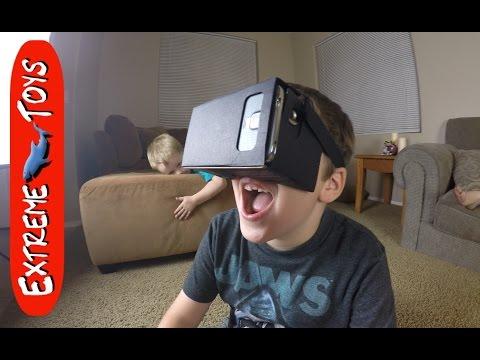 Kids react to Virtual Reality.  Fun with Google Cardboard
