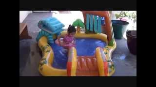 Ev's new Dinosaur play center pool by intex REVIEW
