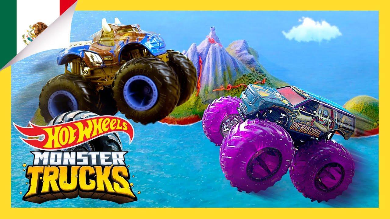 ¡Monster Trucks Desafío de Carreras Extremas! | Isla Monster Trucks | Hot Wheels Español