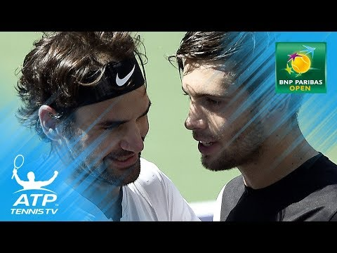 Roger Federer wins EPIC point against Borna Coric in semifinal  Indian Wells 2018