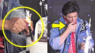 Gambar cover Shahrukh Khan Hand Get Burned While Lighting His Birthday Candle