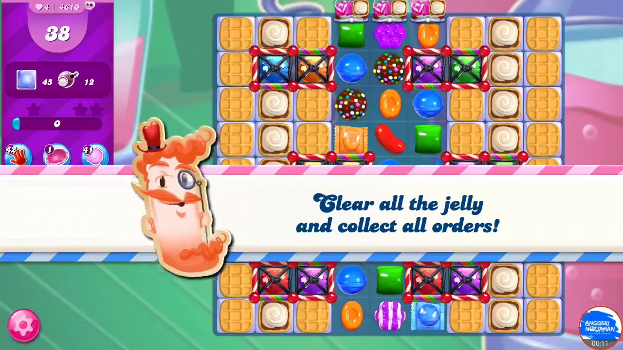 Candy Crush Saga 4610 Last Level 10april2019 Hard Level First Try Gold Level Youtube