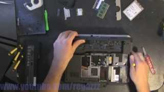 HP ELITEBOOK 2740P (NO LCD) take apart video, disassemble, howto open, disassembly