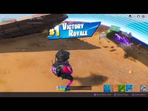 Fortnite Solo Win PS4 Gameplay
