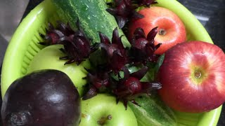 How To Make Roselle, Beetroot, Apple and Cucumber Juice