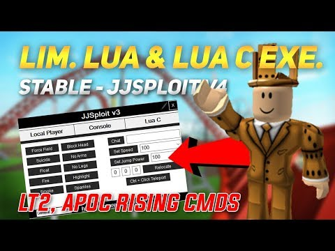 ROBLOX - STABLE HACK/EXPLOIT: JJSPLOIT V4 LIMITED LUA & LUA C EXE. W/ LT2, APOC RISING CMDS (May 31)