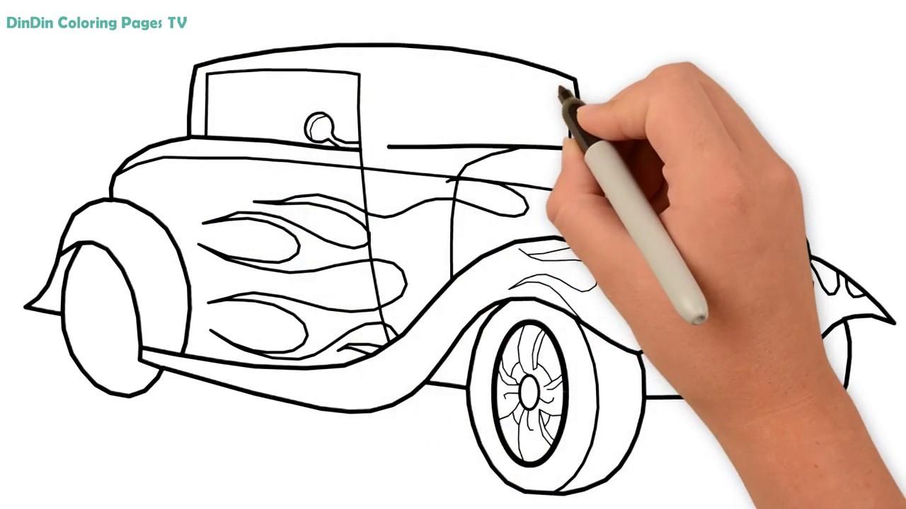 Wie Zeichnet Man Auto Auto Malvorlagen Fur Kinder Auto Fur