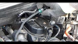 Как заменить топливный фильтр и вентилируемые в Ford Fiesta 1.4 T.D.C.I. (Русский)
