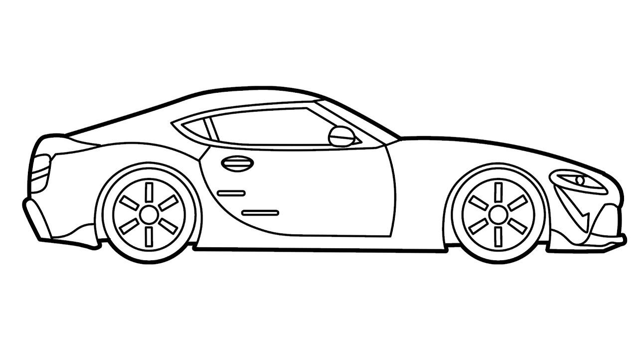 Cara Menggambar Mobil Balap Keren Spootzart Youtube