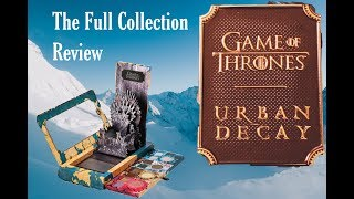 Urban Decay Game of Thrones Review Full Collection