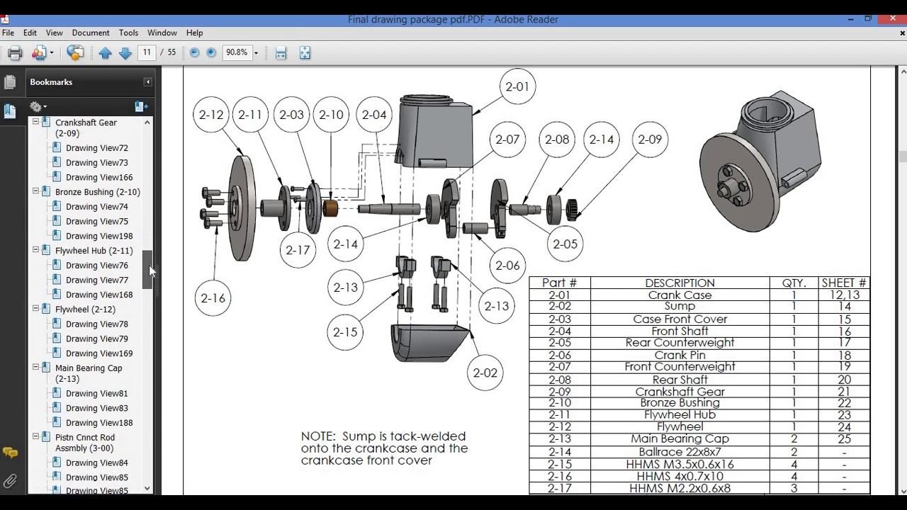 Tutorial 2 13 Single Cylinder Engine Crank Shaft Crank Case