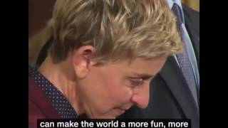 just keep swimming in one of the most emotional moments of 2016 ellen degeneres held back tears
