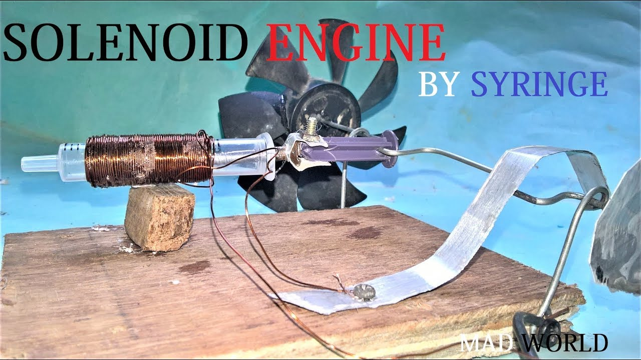 Make A Solenoid Engine By Syringe