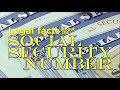 Legal facts about the Social Security Number