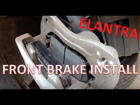 How to: Hyundai Elantra Brake install- Front Brakes