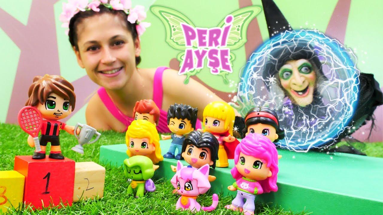 Peri Ayşe. Cadı Pinyponun şampiyonluğunu kıskanıyor! Sihir yapma oyunu