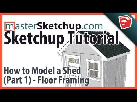 Sketchup Tutorial - Model a Shed (Part 1) - Floor Framing
