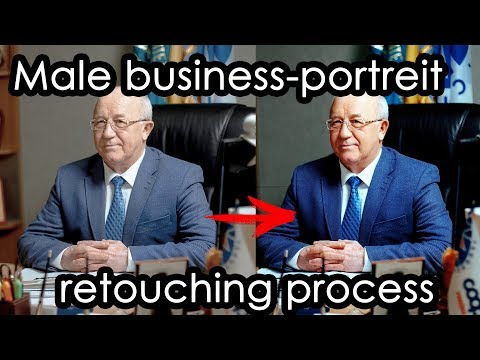 Male business-portreit retouching process