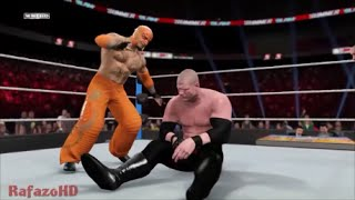 WWE 2K15 [SIMULATION] - Rey Mysterio vs Kane - SummerSlam 2010 Highlights [HD]