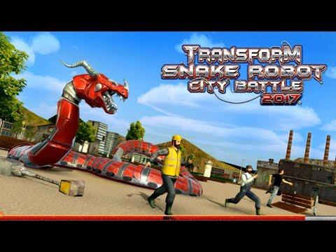 🐍Transform Snake Robot City Battle 2017-Робот Змея Городская Война-By TapSim Game Studio