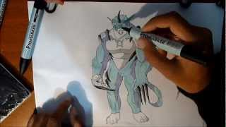 Cool Ultimate Rath Drawing in colour from Ben10 | Ben 10